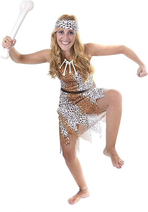 Costumizate! Disfraz de Cavernicola para Mujer Adulta Especial ...