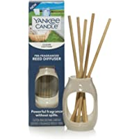 Yankee Candle Pre-Fragranced Clean Cotton Scent | Reed Diffuser for Essential Oils