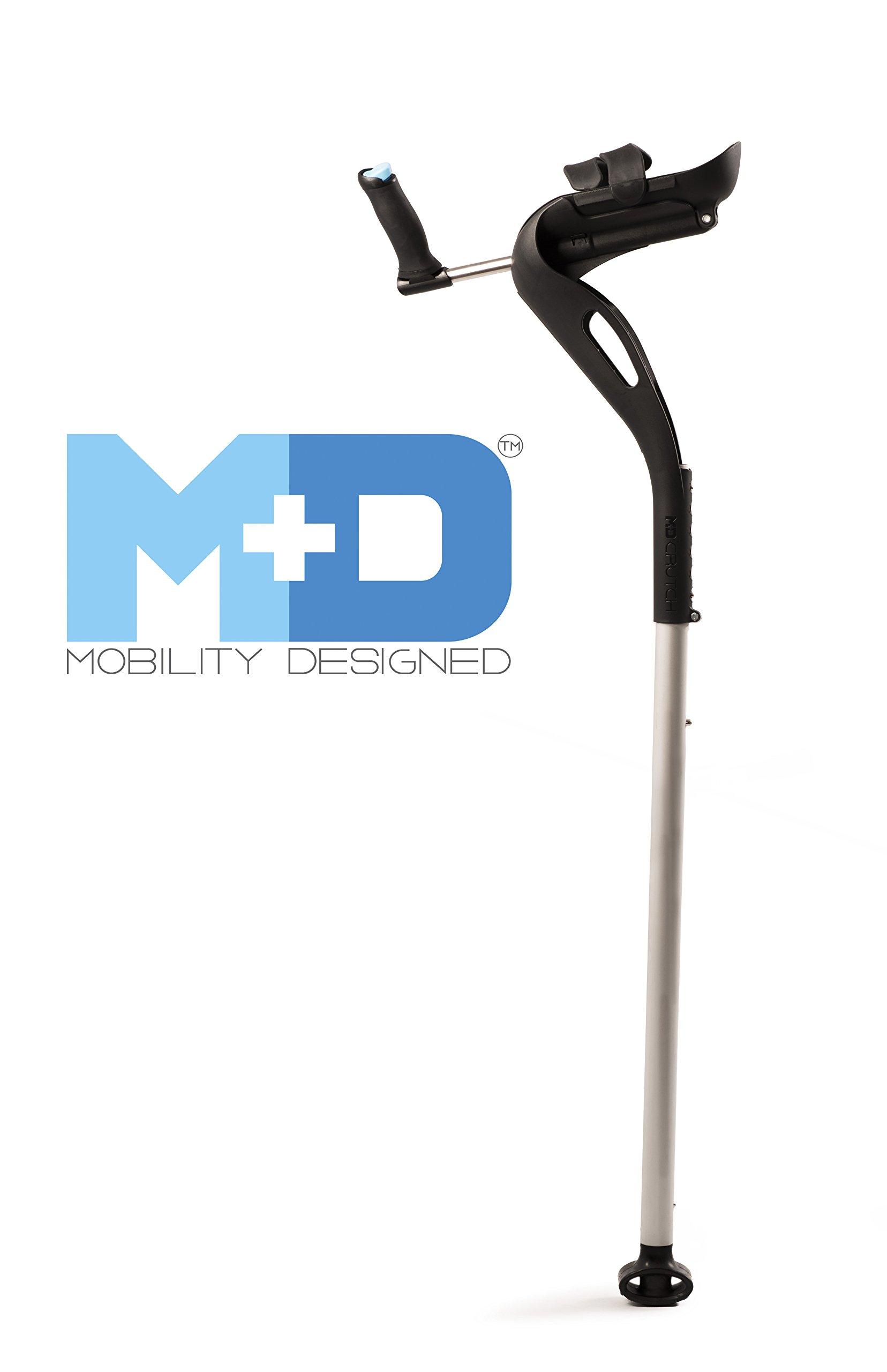 Mobility Designed Hands-free Ergonomic Crutch Left - Black