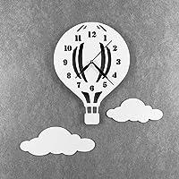 babees Niños Reloj De Pared Globo con nubes