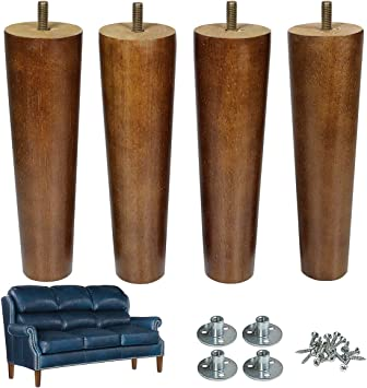 Furniture Legs Feet Wood Replacement Chair Couch Ottoman Sofa 16 LEGS 6 INCH