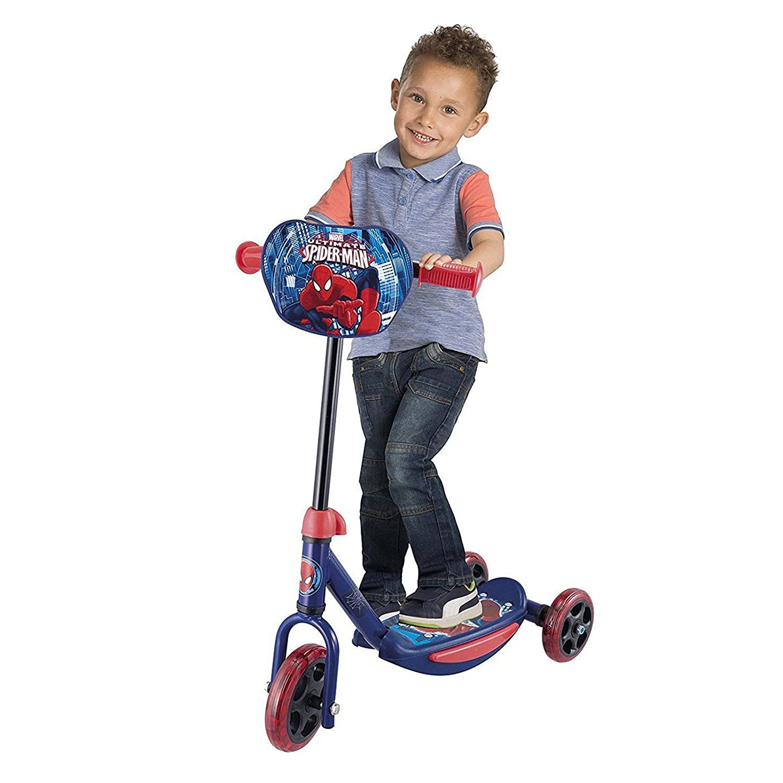 Niños 3 ruedas Scooter patinete de Push para niños Spiderman ...