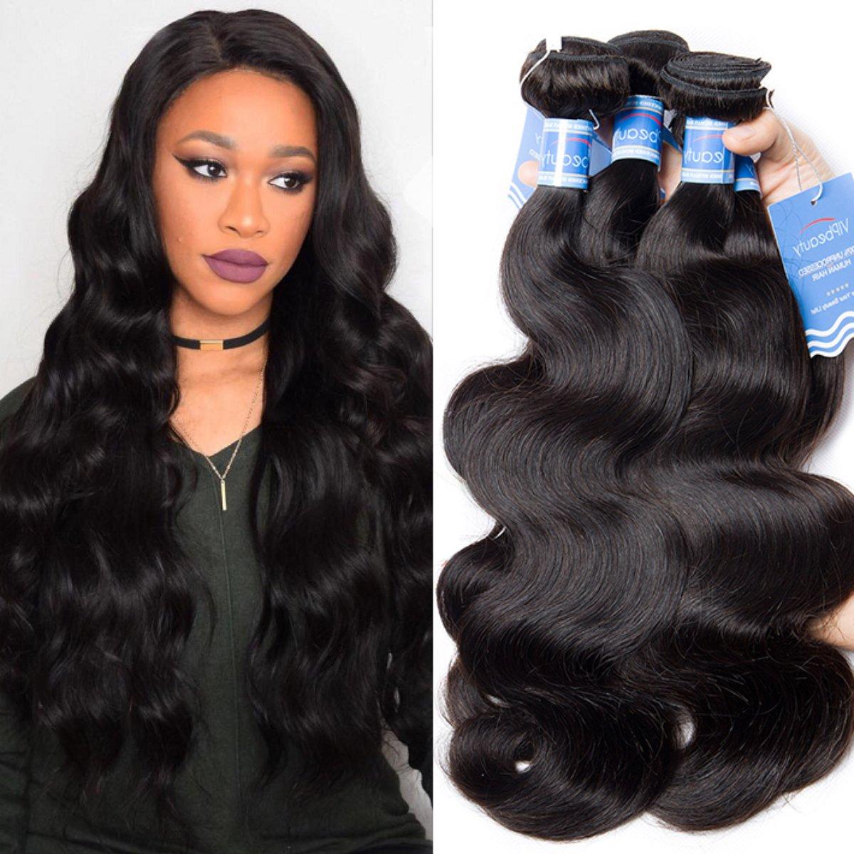 Amazon Vipbeauty 3 Bundles Of Brazilian Hair Body Wave Virgin