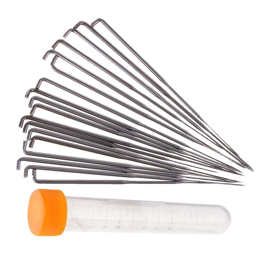 Jili Online 18 Pieces Felting Punch Needles for Cross-Stitch Hand Embroidery Sewing Crafts Needlework