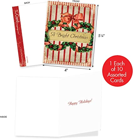 Vintage Style Holiday NotecardsRustic Christmas Note Card SetsHolly Notecards with Envelopes and SealsMerry Christmas NotecardsSet of 8