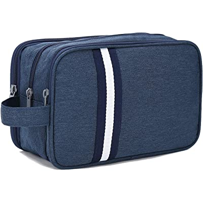 Bolsas de Aseo Hombre y Mujer, Boic Neceser de Viaje Maquillaje impermeabile Organizador de Bolso Cosmético, Travel Toiletry Bag (Azul)