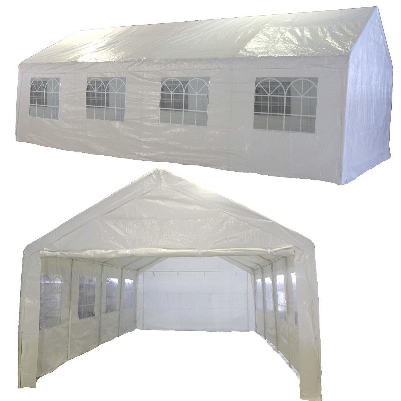 Julido Partyzelt Pavillon Festzelt Gartenzelt 4x8m Zelt Wasserdicht 8x4m PE