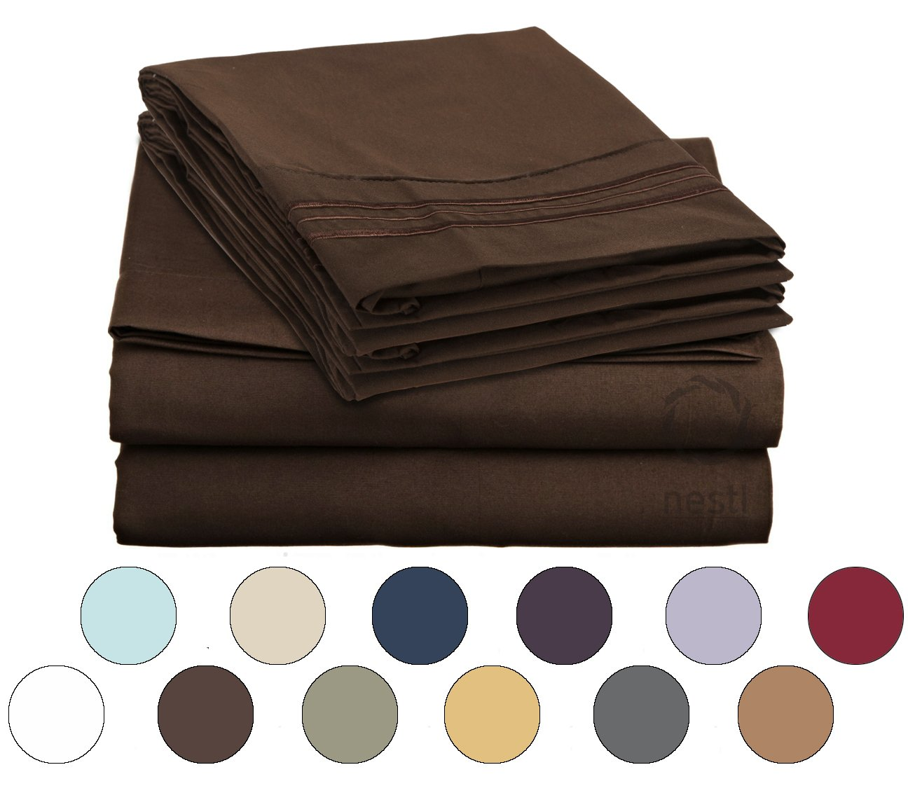 Deep Pocket Fitted Sheet - KING - CHOCOLATE BROWN
