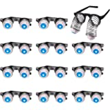 12 Count Slinky Glasses, Scary Disguise Eyeball Glasses, Silly Party Favors, and Gag Gifts for Halloween, April Fools Day and Themed Party, 4.7 x 1.7 x 4.9 inches