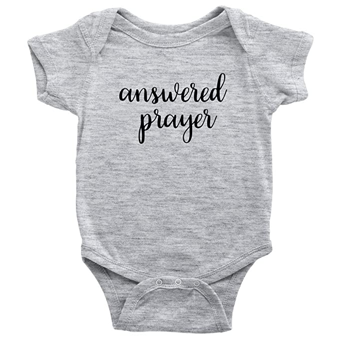 4e25dff8d720a Amazon.com: Answered Prayer Onesie for Baby Girl or Boy: Clothing