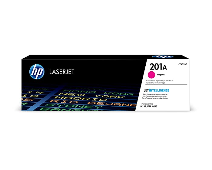 HP 201A (CF403A) Toner Cartridge, Magenta for HP Color Laserjet Pro M252dw M277 MFP M277c6 M277dw MFP 277dw