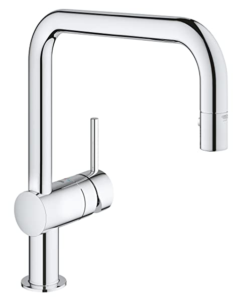 GROHE 32322000 Minta Kitchen Tap with Pull-Down Shower Head: Amazon ...