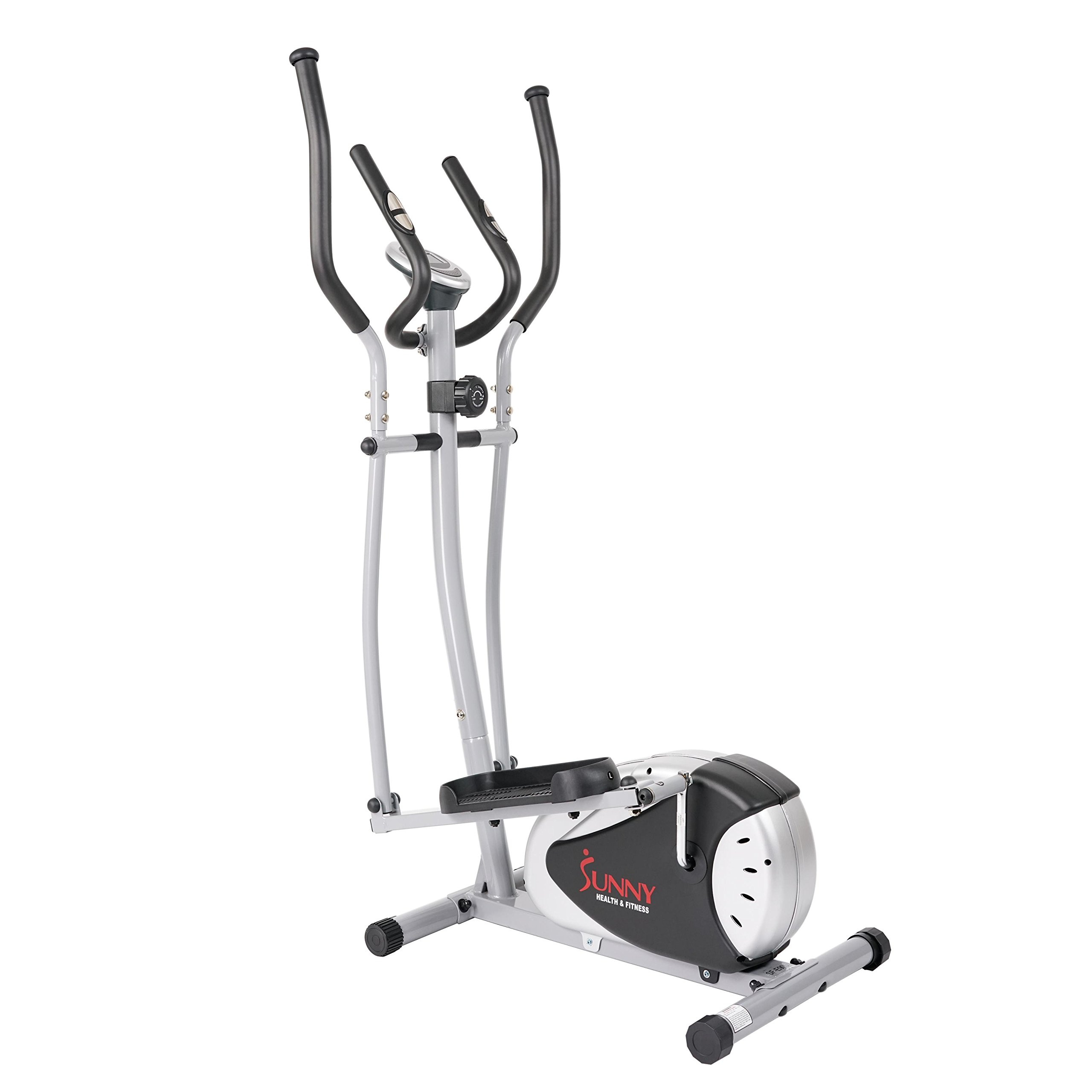 Sunny Health & Fitness SF-E905 Elliptical Machine Cross Trainer with 12 Level Resistance and Digital Monitor