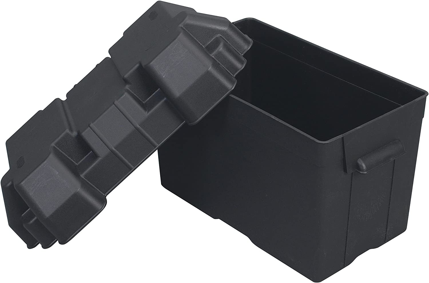 One 27, 30 or 31-Series Battery, 13.44 x 7.75 x 10.5 Moeller Injection-Molded Marine Battery Box