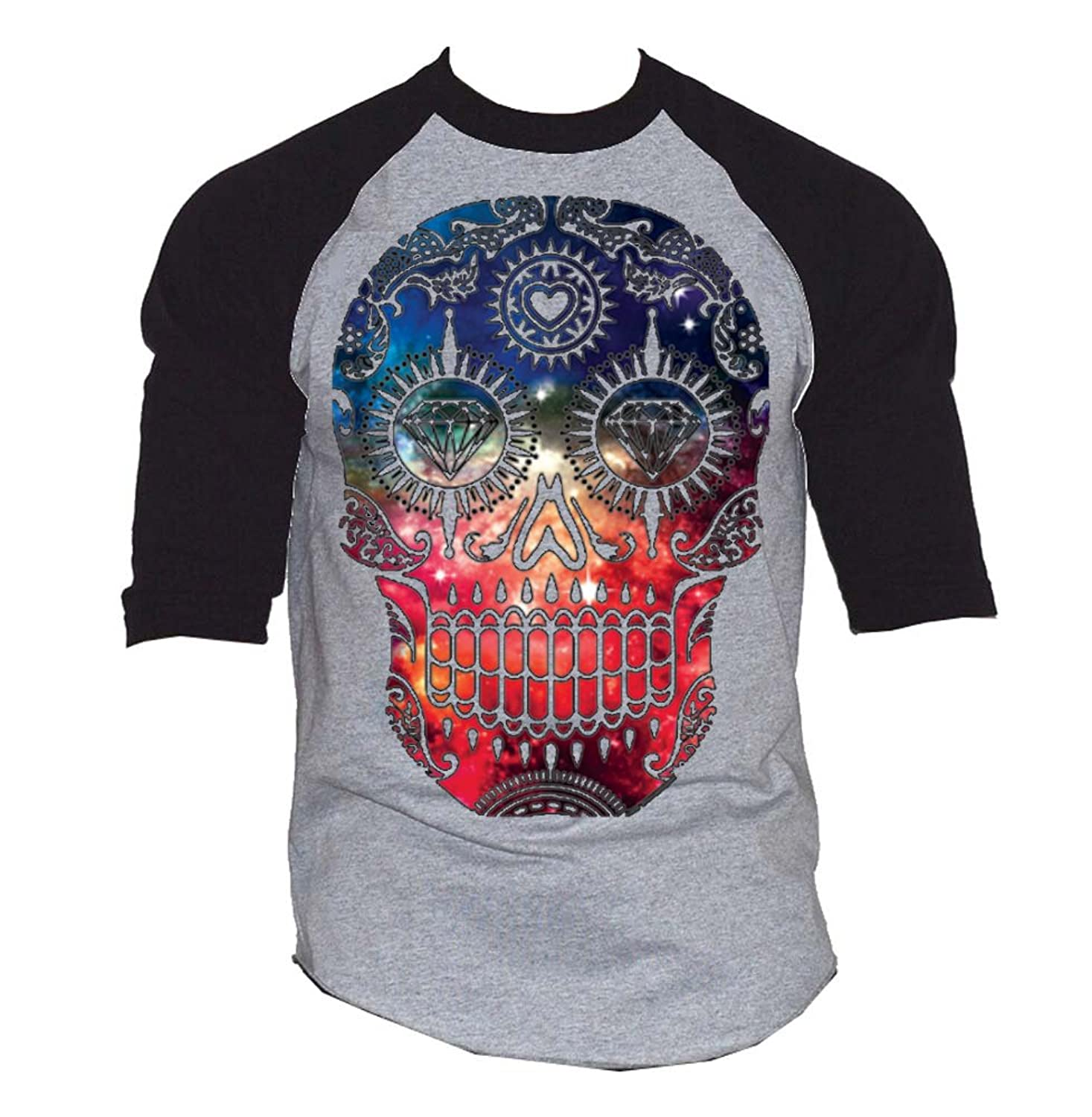 Galaxy Skull Baseball T-Shirt
