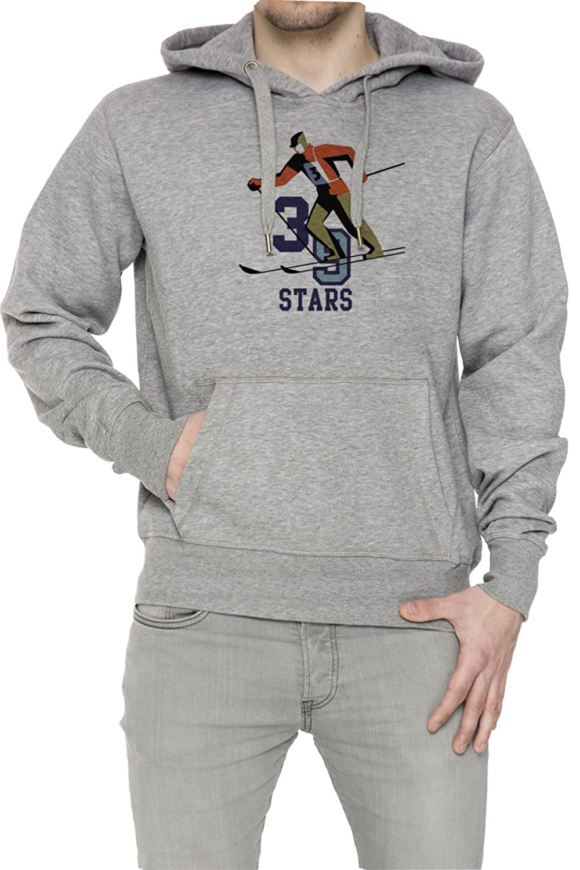 39 Stars Gris Algodón Hombress Sudadera Sudadera Con Capucha Pullover Grey Men's Sweatshirt Pullover Hoodie