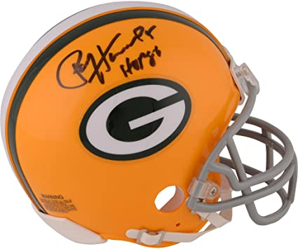 97b030414a1 Amazon.com  Paul Hornung Green Bay Packers Autographed Throwback Riddell  Mini Helmet with HOF 86 Inscription - Fanatics Authentic Certified  Sports  ...