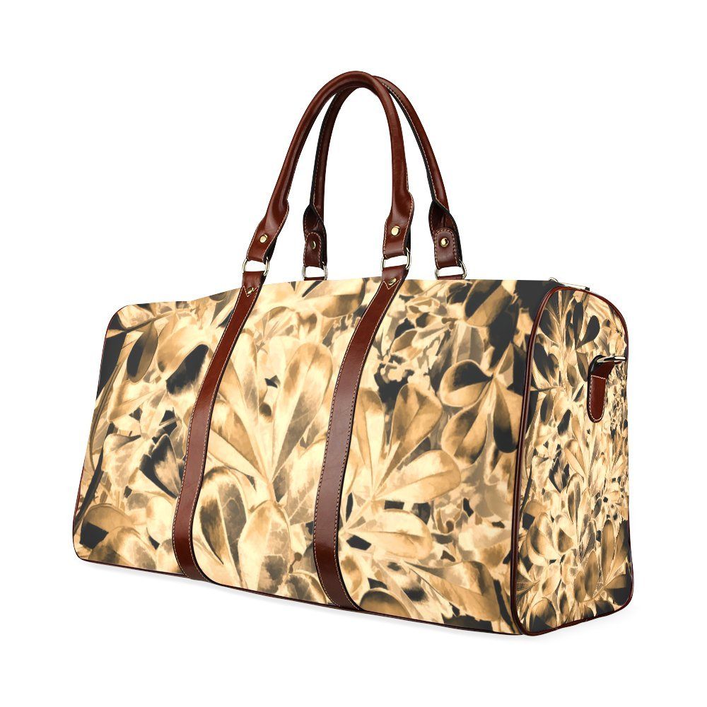 Foliage Custom Waterproof Travel Tote Bag Duffel Bag Crossbody Luggage handbag