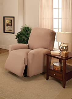 Madison Slipcover Stretch Pique Large Recliner Seaglass Madison Industries PIQ-LGRECL-SE