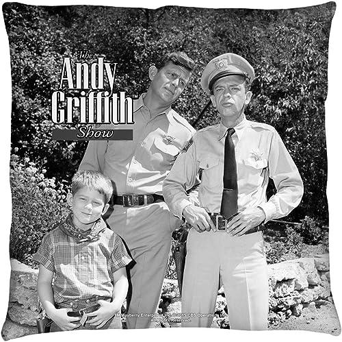2Bhip Andy Griffith Show 1960 s Comedy Sitcom TV Series Lawmen Throw Pillow