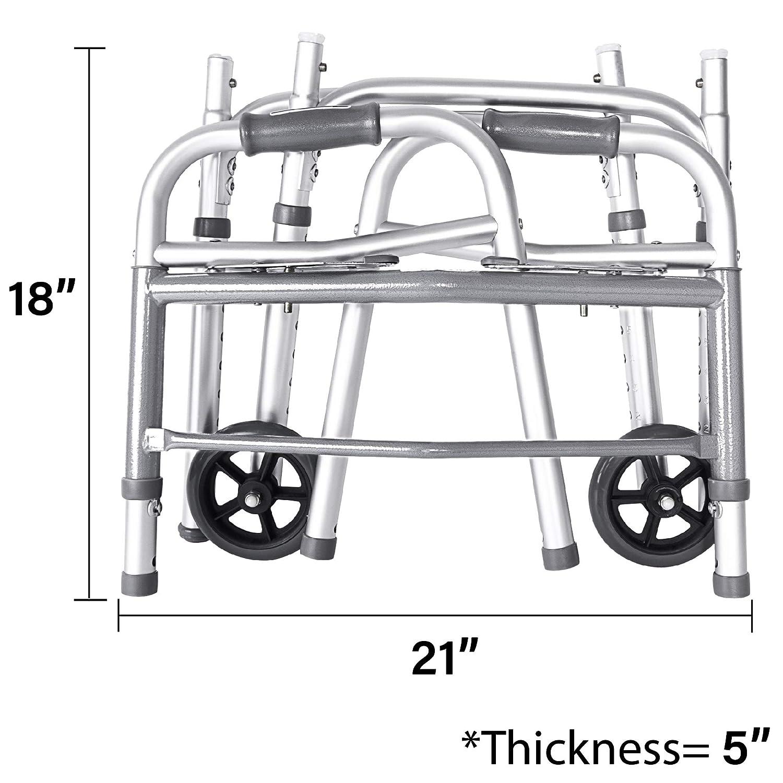 Amazon.com: Vaunn Medical - Andador plegable de dos botones ...