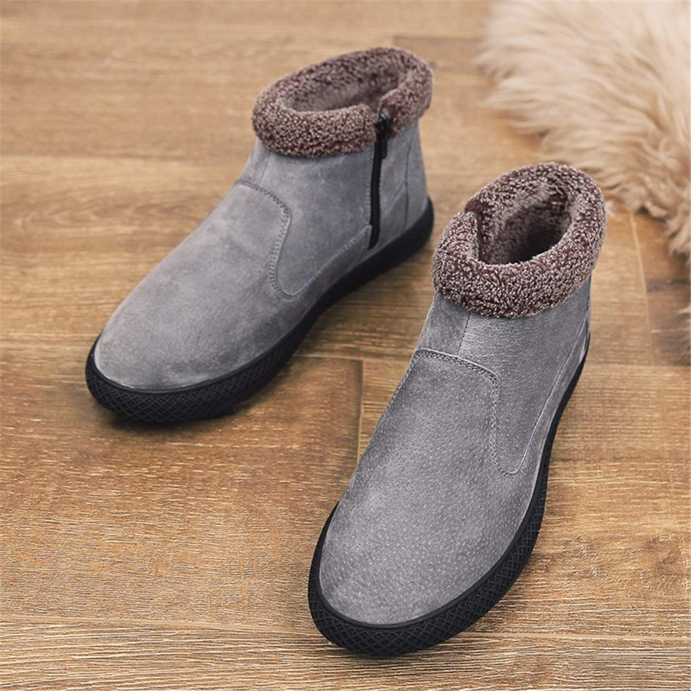 Xiaojuan-stivali Stivali da Neve Casual alla Moda da Uomo Wrap Wrap Wrap Side Zipper Winter Faux Fleece Inside Home scarpe (Colore   Grigio, Dimensione   42 EU) bd07d5