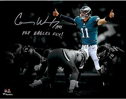 4e5c9b4b Carson Wentz Philadelphia Eagles Autographed 11