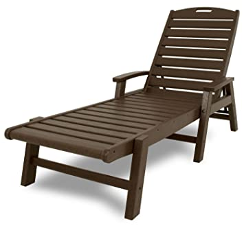 Trex Outdoor Furniture Yacht Club Stackable Chaise Lounger With Arms,  Vintage Lantern