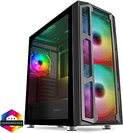GameMax F15 Maleta ARGB PC Gaming Case, E-ATX, 3 ventiladores ARGB ...