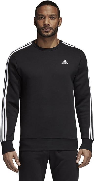 suelo Arábica lana  Amazon.com: adidas Men's Athletics Essential 3 Stripe Crew Sweatshirt:  ADIDAS: Clothing