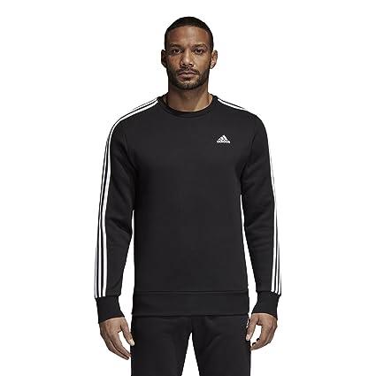5b736978aefb Amazon.com  adidas Men s Athletics Essential 3 Stripe Crew ...