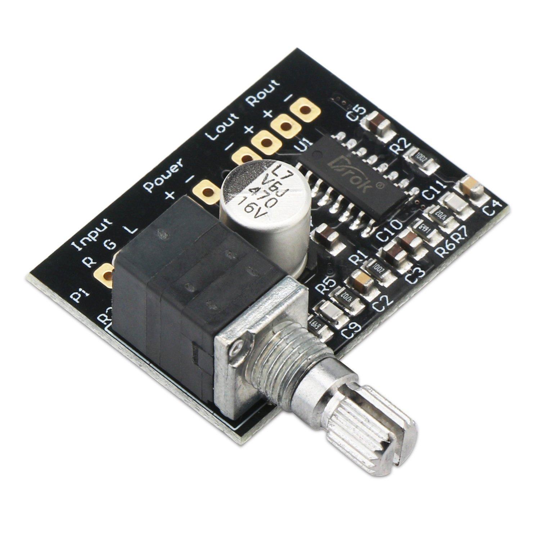 3W Amp para Auriculares Auriculares Altavoz port/átil Ultra Small Amp 5V Amplificador de sonido Mini amplificadores de potencia digital Ampli Apoyo Junta de corriente USB de 2 canales est/éreo de 3W