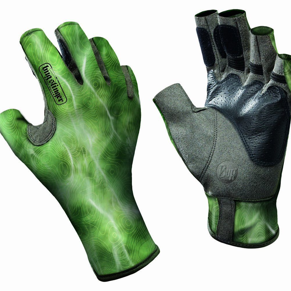 Buff Pro Series - Angler II Gloves BS Water Camo Green, M/L