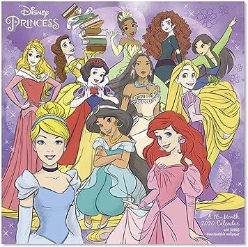 Amazon Com 2020 Disney Princess Wall Calendar Ddd2892820 Office Products