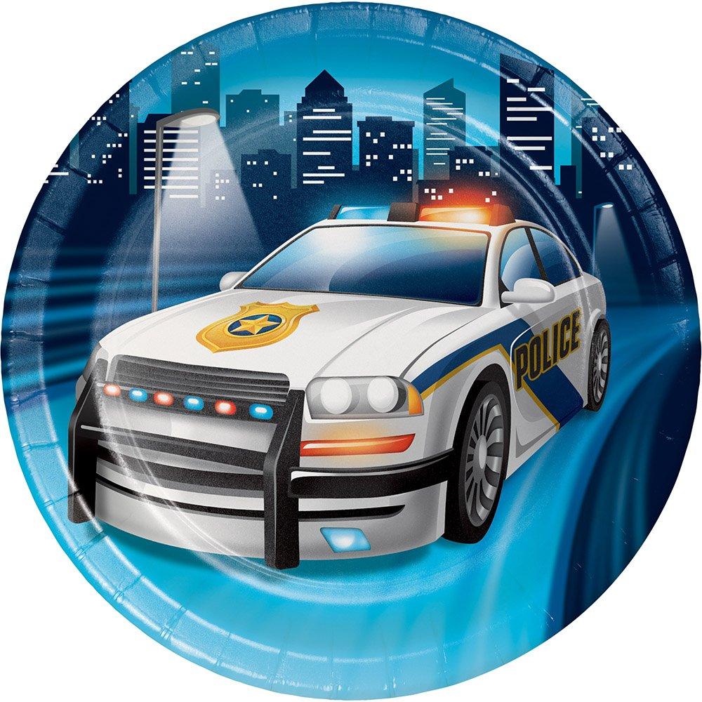 Creative Converting 329387警察パーティー96-count頑丈なスタイルSmall /デザート紙皿   B0772TPMS1