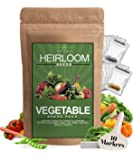 Heirloom Vegetable Seeds -10 Variety - Non GMO Vegetable Seeds For Planting Indoor or Outdoors, Brussel Sprouts, Carrots…