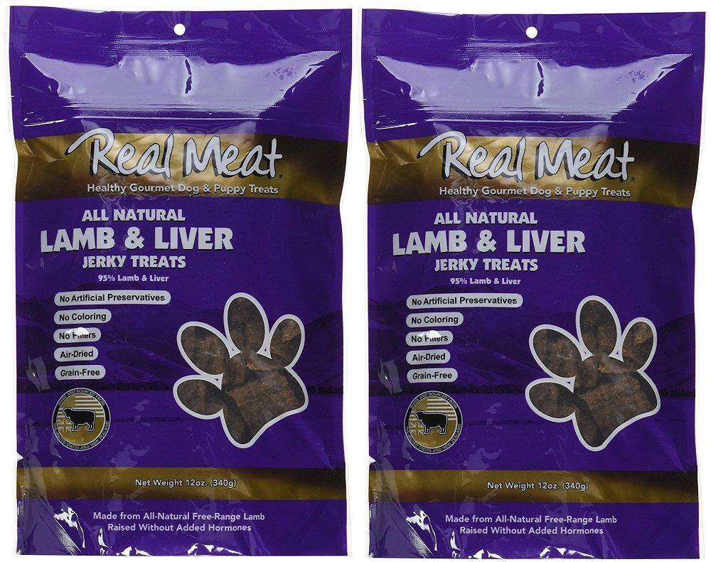 Real Meat Lamb Liver Jerky Dog Treats