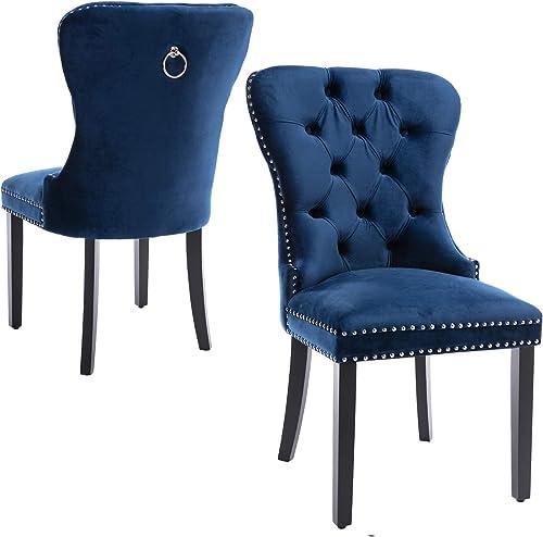 Velvet Upholstered Dining Chair