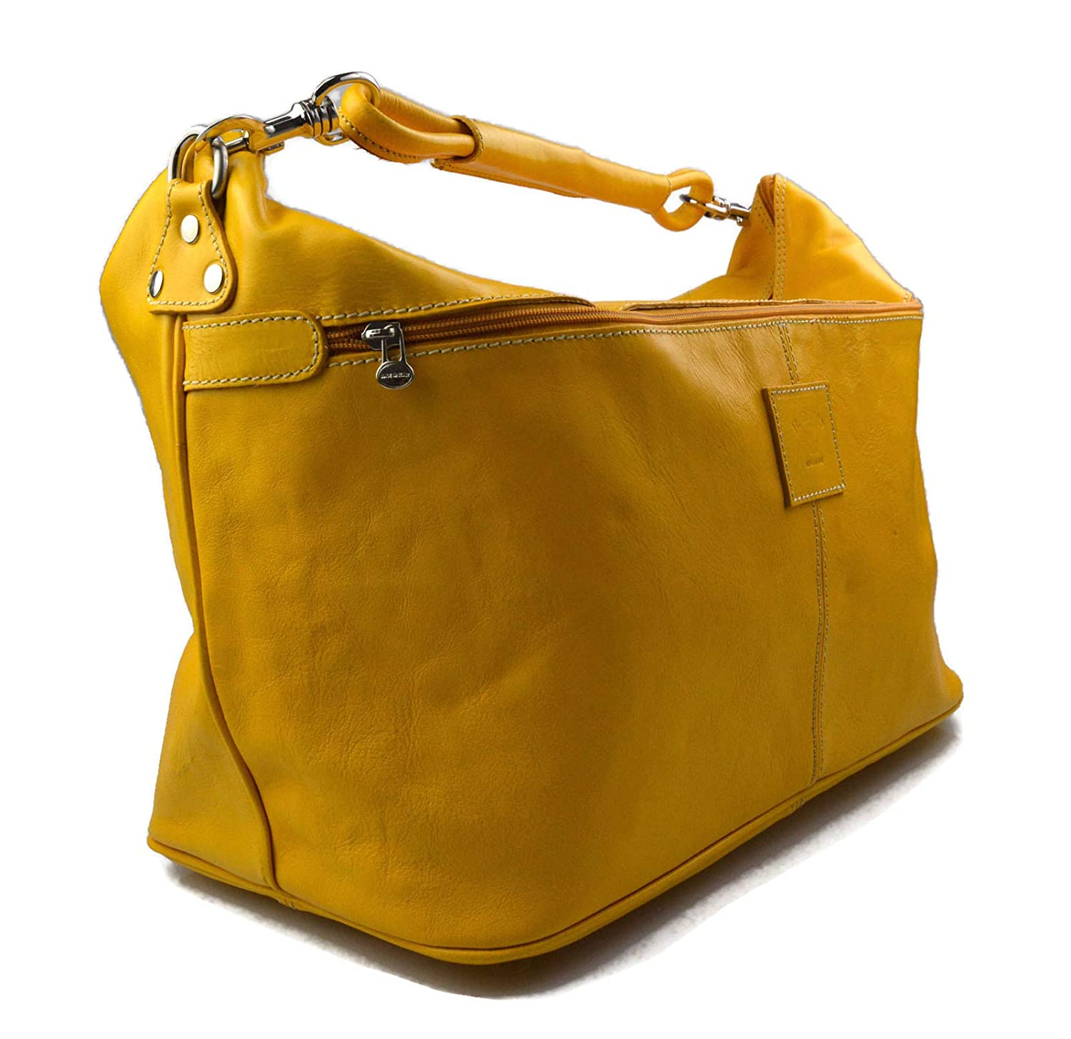 Amazon.com  Duffle bag mens women leather yellow shoulder bag travel bag  luggage leather bag weekender carryon made in Italy airplane duffle bag   Handmade 987defb269190
