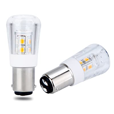 B15 S25 LED Pygmy Bulb BA15d BA15s / Automotive Replacment Light Bulbs / 1141 1156 1073 1093 1129 / 2W 200 Lumens / 2 Pack (Warm White (3000K), BA15d (Double Contact Bayonet Cap)): Home Improvement