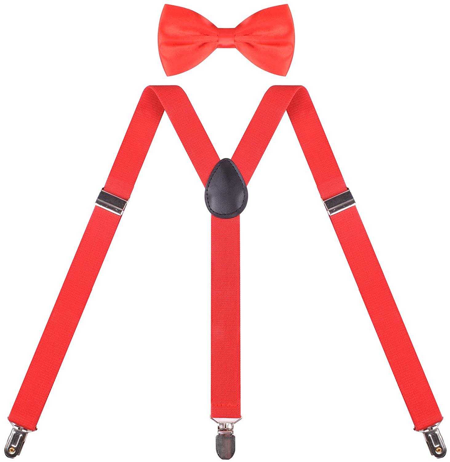 BODY STRENH Mens Suspenders and Pre Tied Bow Tie Set Y Shape POEOGEGEE66883