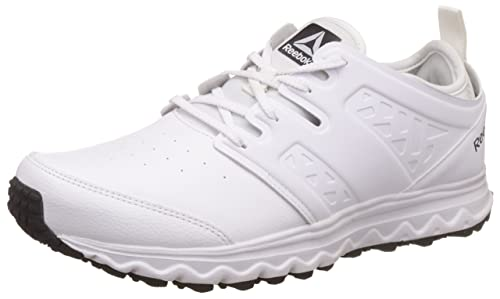 3b5693b8a8f Reebok Men s Walk Optimum White Met SIL Pewter Blk Nordic Walking Shoes -