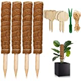 Cosumina Moss Pole,4 Pcs 16 Inches Moss Plant Poles for Indoor Plants to Grow Upwards, Totem Pole Plant Support, Moss Pole f