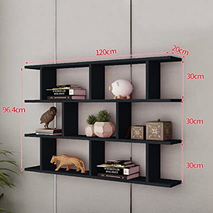 Amazoncom Wan San Qian Creative Wall Mount Bookshelf