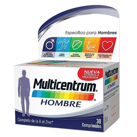 Multicentrum Hombre Complemento Alimenticio con 13 Vitaminas y 11 Minerales, Con Vitamina B1, Vitamina B6, Vitamina B12, Hierro, Vitamina D, Vitamina ...