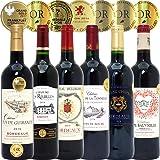厳選直輸入 全て金賞受賞名産地フランスボルドー 辛口赤ワイン6本セット((W0G601X2))(750mlx6本ワインセット)