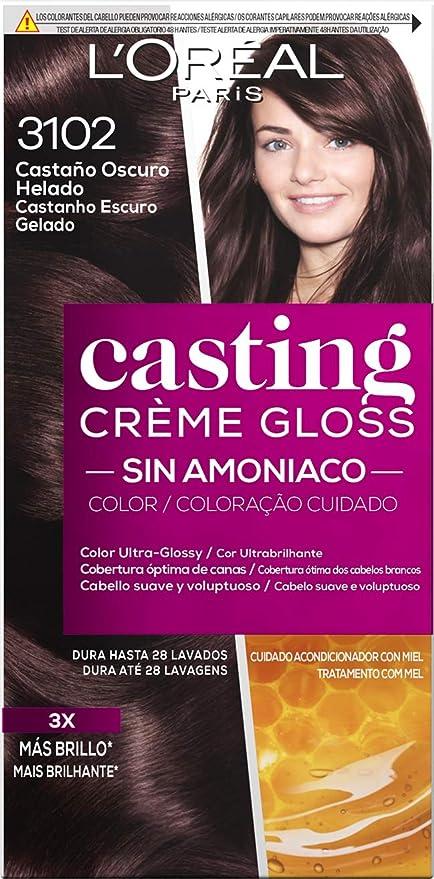 LOreal Paris Casting Crème Gloss Baño De Color 3102 Castaño Oscuro Helado 240 g