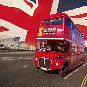 1wall London Bus Wallpaper Mural By 1 Wall Amazonfr Bricolage