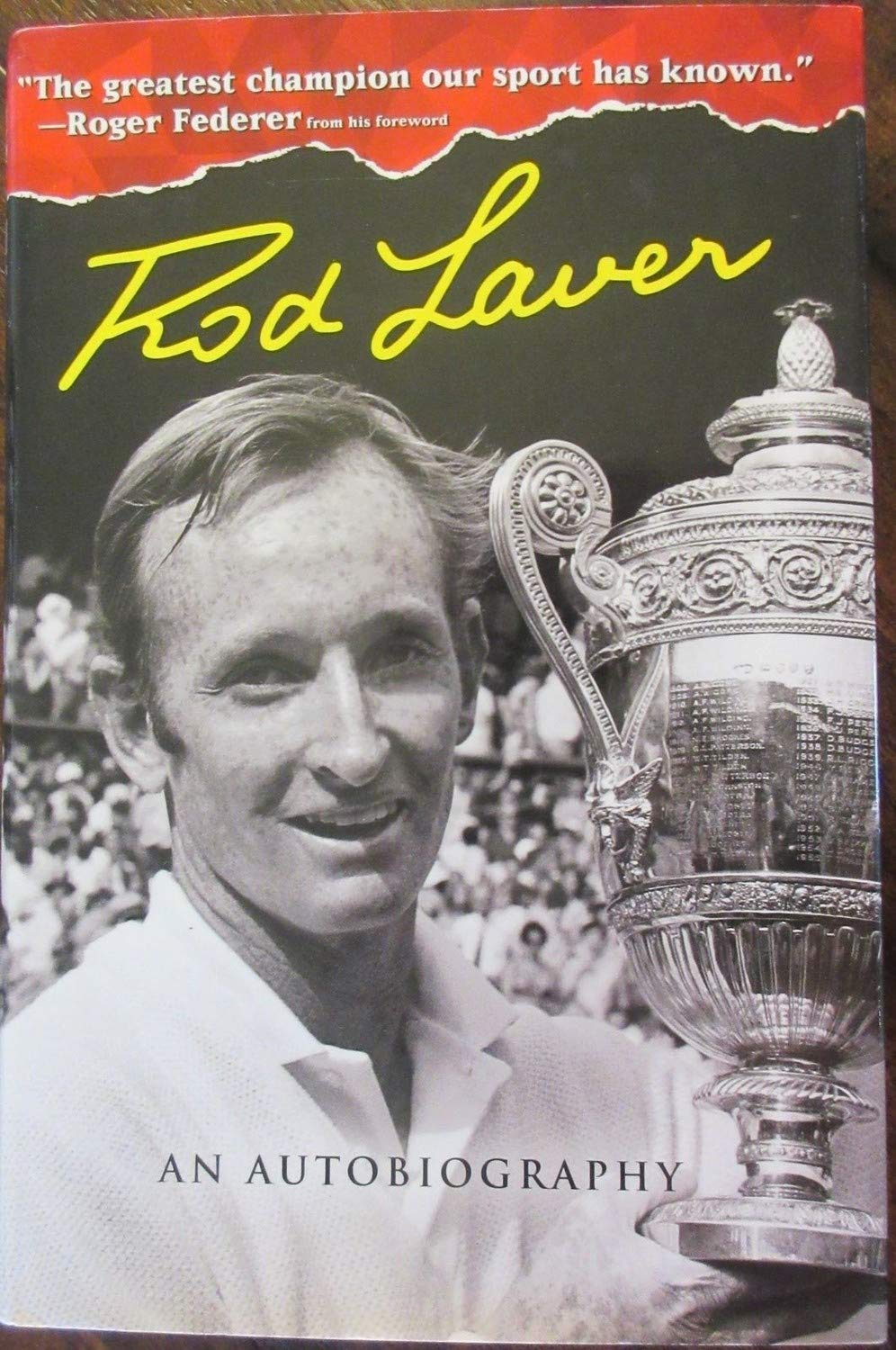 Rod Laver Autographed Signed Book Beckett Authentic