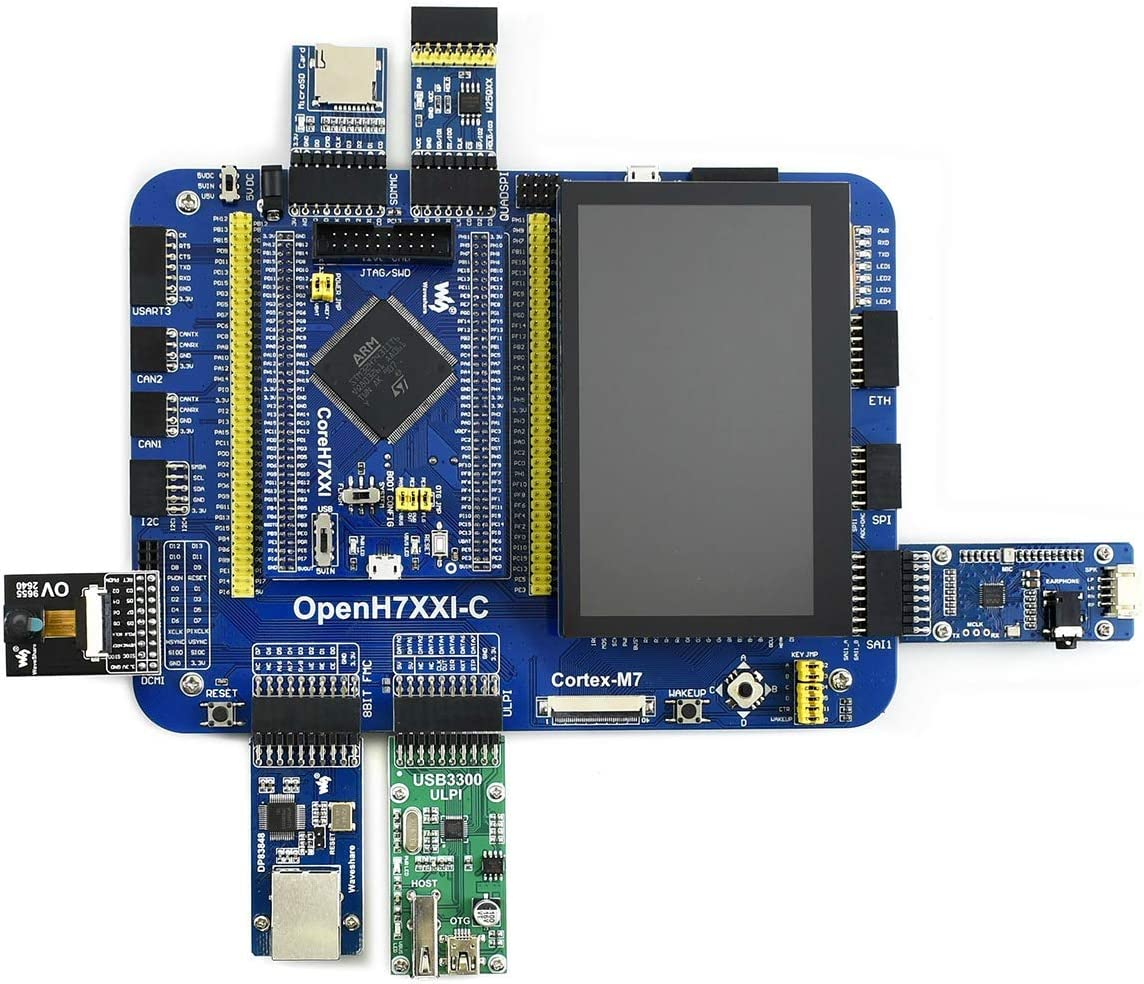 OpenH743I-C//STM32H743IIT6 Development Kit . 4.3inch Capacitive Touch LCD Package A Includes OpenH743I-C Motherboard CoreH743I Core Board And Other Expansion Modules See the Shipping List